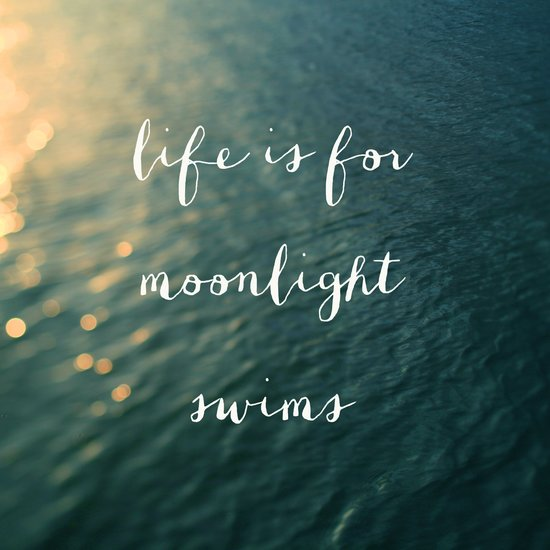 Life Is For Moonlight Swims Art Print