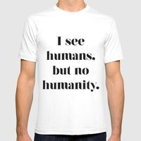 HUMANITY? Mens Fitted Tee White SMALL