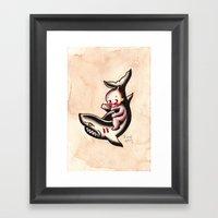 Kewpie On A Shark Framed Art Print