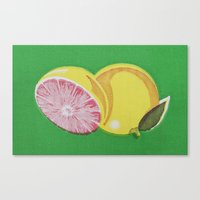 Canvas Print featuring Fruitopia Pamplemousse by Innika