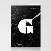 Black Marble - Alphabet G Stationery Cards