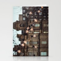 lights Stationery Cards featuring Lights by Errne