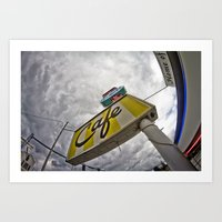 Double R Diner Sign In T… Art Print