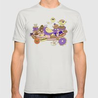 Breakfast Of Champions Mens Fitted Tee Silver SMALL