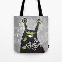Black Slug Tote Bag