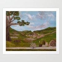 Here be Hobbits Art Print