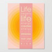 Spend Oneself Canvas Print