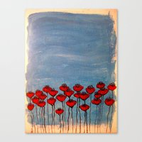 Sea of poppies. Canvas Print