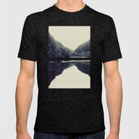 The Lake Mens Fitted Tee Tri-Black SMALL
