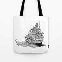 Snail Temple Tote Bag