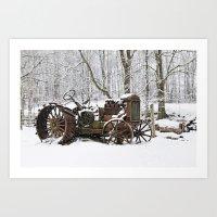 Steel And Snow Art Print