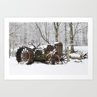Steel And Snow Art Print