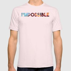 Impossible Mens Fitted Tee Light Pink SMALL