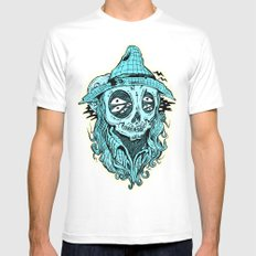 scared crow White Mens Fitted Tee SMALL