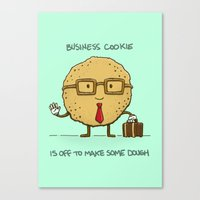 The Business Cookie Canvas Print