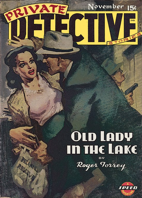 Private Detective Stories - November 1944 Art Print
