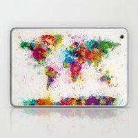 Map of the World Map Paint Splashes Laptop & iPad Skin