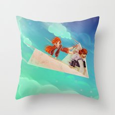 Flying Around Throw Pillow