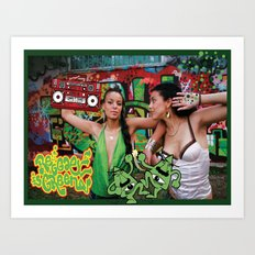 Reggae is green Art Print