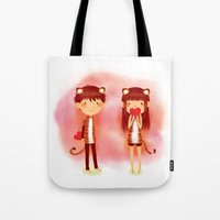 Tiger Hearts Tote Bag