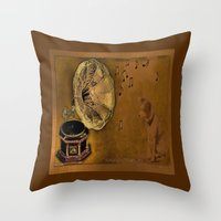 His Master's Voice Throw Pillow