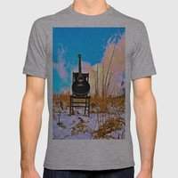 Winter Blues Mens Fitted Tee Athletic Grey SMALL