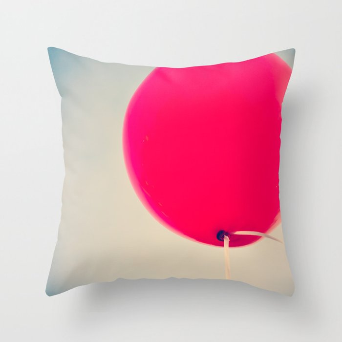 Big Red Decorative Pillows : Big Red Throw Pillow by AC Photography Society6