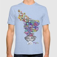 Uninstalling My Mind  Mens Fitted Tee Tri-Blue SMALL