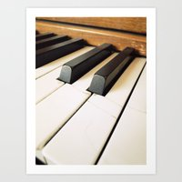 The Fractured Ivories. Art Print