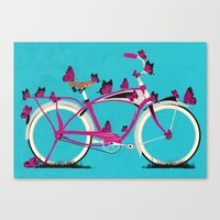 Butterfly Bicycle Canvas Print