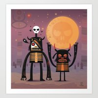 Moon catcher brothers  Art Print