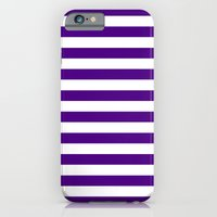 Horizontal Stripes (Indigo/White) iPhone 6 Slim Case