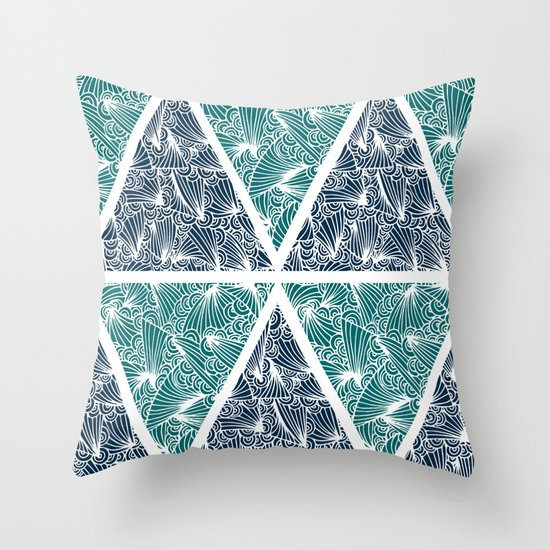 Geometric Paradise Throw Pillow