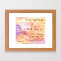 If God Is For Us Framed Art Print
