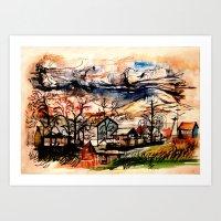 Mountain Storm Art Print