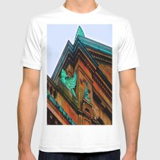 What's Your Angle? SMALL White Mens Fitted Tee