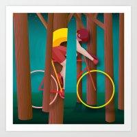 Life is strange, riding bicycle Art Print