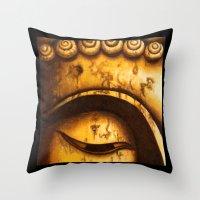 Buddha Eyes Diptych  Throw Pillow