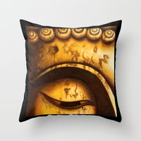Buddha Eyes Diptych  Throw Pillow