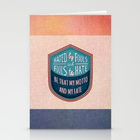 Hated by Fools  Stationery Cards
