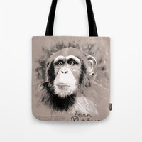 Chimpanzee (BornInNature) Tote Bag