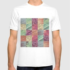Nature pattern Mens Fitted Tee White SMALL