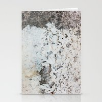 Peeling white wall Stationery Cards