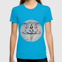 Shiva Womens Fitted Tee Teal SMALL