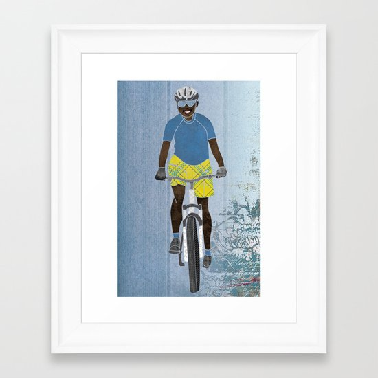 Bicycle girl 1 Framed Art Print