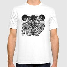 Scorn Pourer White SMALL Mens Fitted Tee