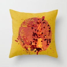 Polygons of a Photograph Throw Pillow