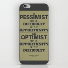 Pessimist / Optimist iPhone & iPod Skin