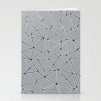 Abstraction Block Grey Stationery Cards