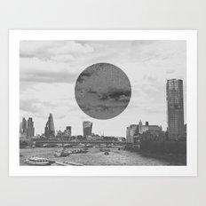 London Moon Art Print